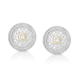 Eloquence 14k Yellow Gold Over Silver 1/5ct TDW Diamond Earrings (H-I, I2-I3)