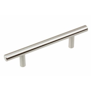 GlideRite 6-inch Solid Stainless Steel Finish 3 inch CC Cabinet Bar Pulls (Pack of 10)