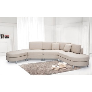Beliani Copenhagen Contemporary Beige Sectional
