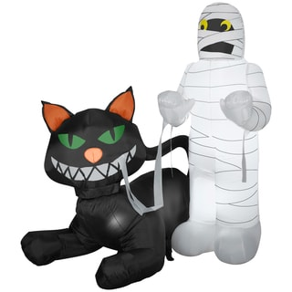 Animated Cat Eating Mummy