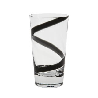 IMPULSE! Crazy Highball Black Glass (Set of 4)