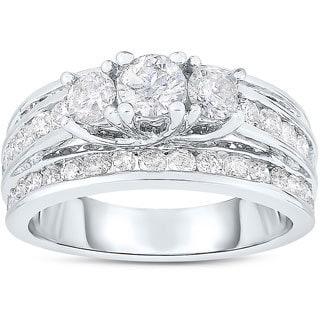 10k Yellow Gold 2ct TDW Diamond Engagement Ring (I-J, I2-I3)