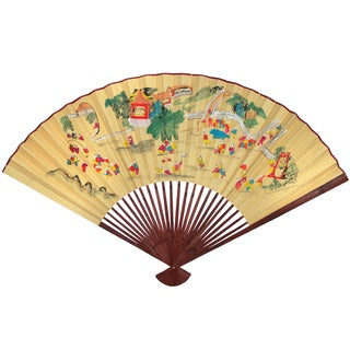 Large Oriental Children #7 Decorative Wall Fan (China)