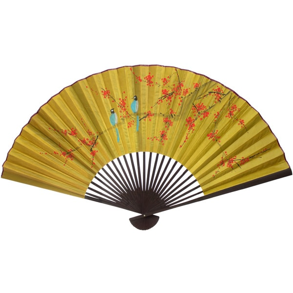 Large Birds On Red Tree 8 Decorative Wall Fan China