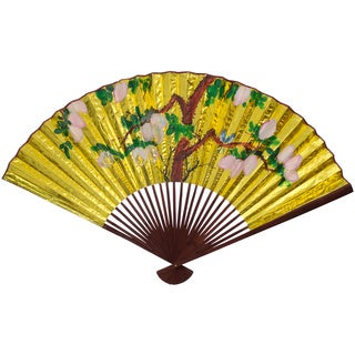 Large Golden #4 Paper Wall Fan (China)