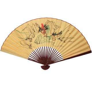 Large Mountain Scene #6 Paper Wall Fan (China)