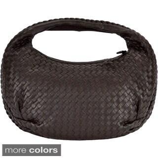 Bottega Venetta Woven Napa Leather Hobo Handbag