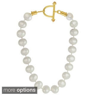 Sunstone Catherine Canino Shell Pearl Beaded 18k Gold Plated Necklace, 18""