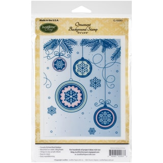 """JustRite Papercraft Cling Background Stamp 4.5""""X5.75""""-Ornament"""