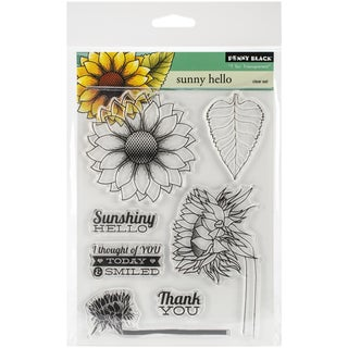 "Penny Black Clear Stamps 5""X6.5"" Sheet -Sunny Hello"