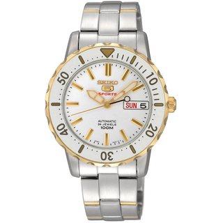 Seiko Women's SRP194K1 Automatic Two-tone White Watch