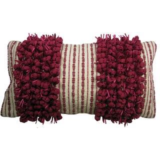 Two-tone Twin Stripe Hand Woven Throw Pillow