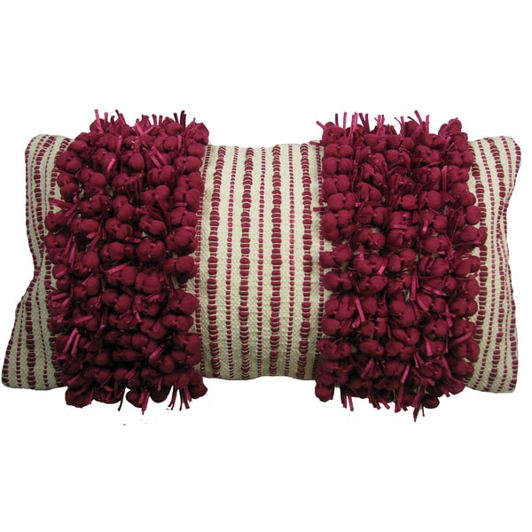 Two-tone Twin Stripe Hand Woven Throw Pillow