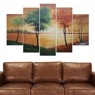 Changing Seasons' 5-piece Abstract Oil Painting