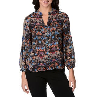 Chelsea & Theodore Women's Floral Button-front Top