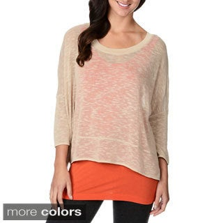 Chelsea & Theodore Women's Double-layer Scoop Neck Top