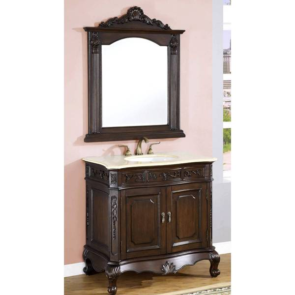 ICA Furniture Terra Single Sink Bathroom Vanity with Mirror
