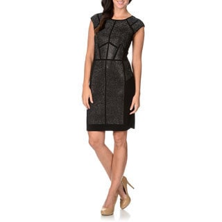 Chelsea & Theodore Women's Studded Sheath Cocktail Dress