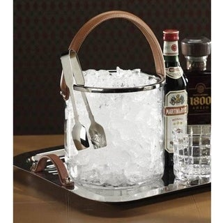 Equestrian Ice Bucket with Leather Handle