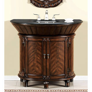 Anteros Demilune Brown Cherry Bathroom Vanity