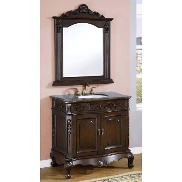 Rhea Single Sink Bathroom Vanity with Mirror