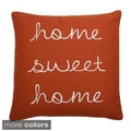 Home Sweet Home Feather Fill 18-inch Throw Pillow