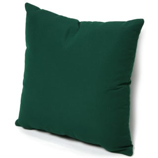 Trijaya Living Sunbrella Forest Green 14-inch Square Throw Pillow