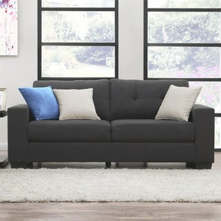 Dorel Living Asher Grey Microfiber Sofa