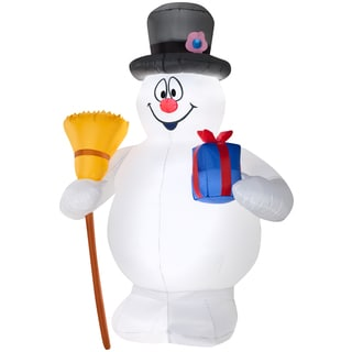 Frosty with Present and Broom