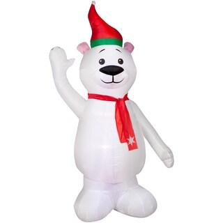 Polar Bear with Scarf-Opp