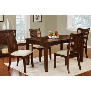 Alvesta 5-piece Dining Set in Dark Oak Finish