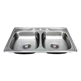 Wells Sinkware 20 Gauge ADA Topmount Double Bowl Stainless Steel Kitchen Sink