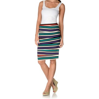 Chelsea & Theodore Women's Striped Tiered Skirt