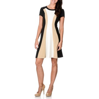 Sandra Darren Women's Colorblock A-line Dress
