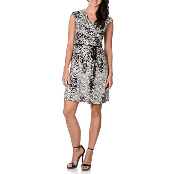 Sandra Darren Women's Cap Sleeve Animal Print Dress