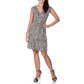 Sandra Darren Women's Novelty Print Fit-and-flare Sleeveless Dress