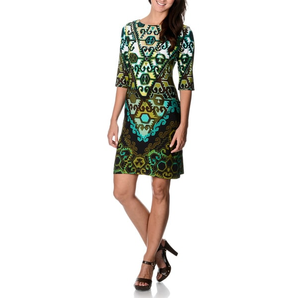 Sandra Darren Women's Geometric Print Shift Dress