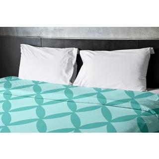 68 x 88-inch Jade and Ocean Geometric Duvet Cover