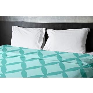 88 x 88-inch Jade and Ocean Geometric Duvet Cover