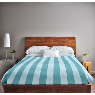 88 x 88-inch Omar and Bahama Stripe Duvet Cover