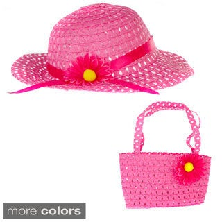 Crummy Bunny Girls' Summer Sun Hat and Purse