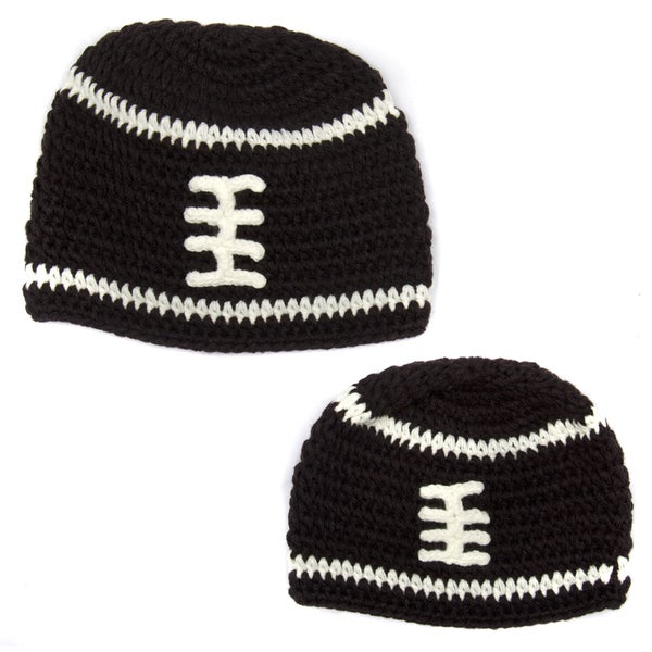 Father/ Son Football Beanie (Set of 2)