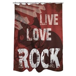 Thumbprintz Live Love Rock Shower Curtain