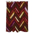 Thumbprintz Chevron Ikat Spice Shower Curtain