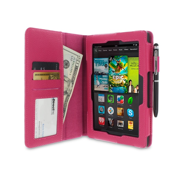 rooCASE Dual Station Folio Case Cover and Stylus for Amazon Kindle Fire HD 7 2013