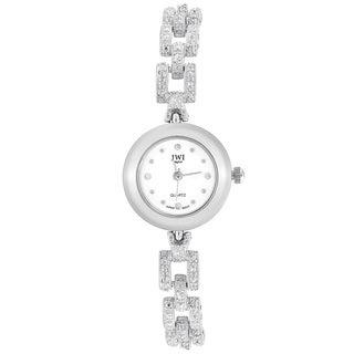 JWI Women's Silvertone Diamond Accent Watch