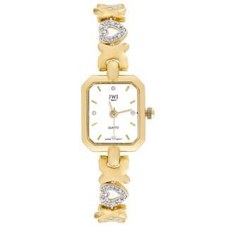 JWI Women's Goldtone Diamond Accent Watch