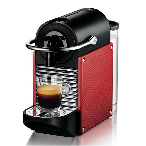 Nespresso Pixie D60 Dark Red Carmine Espresso Machine
