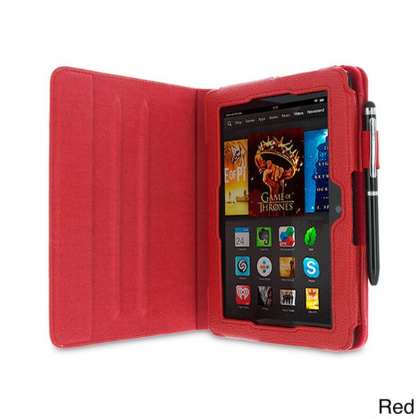 rooCASE Dual View Folio Case Cover with Stylus for Amazon Kindle Fire HDX 7