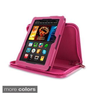 rooCASE Executive Portfolio Leather Case with Stylus for Amazon Kindle Fire HDX 7